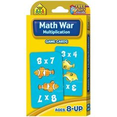 Math War: Multiplication is an exciting card game that helps children learn and practice multiplication facts while having fun. Players take turns solving multiplication problems. The highest correct Math For Kids, Fun Math, Math Activities, Math Tutor, Teaching Math, Card Games, Game Cards, Addition Flashcards, Math Flash Cards
