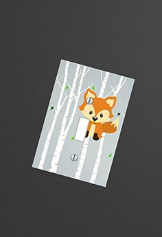 Fox nursery WOODLAND Forest animals Light switch Plate Cover Kids room Wall Art playroom , outlets and other sizes available ElsaBell http://www.amazon.com/dp/B01BH1PTJM/ref=cm_sw_r_pi_dp_lDXdxb1N2QJNY