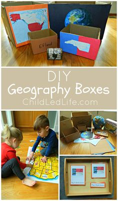 DIY nesting geography boxes