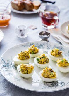 Nicoise Deviled Eggs | JellyToastBlog.com