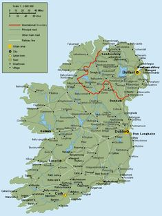 Driving Map of Ireland Counties | have made a much better map of Ireland that can be found here .