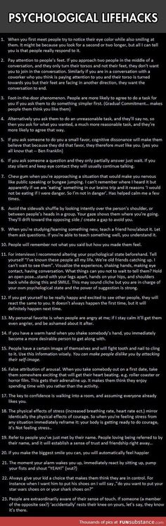 //Psychological lifehacks to give you an advantage, #17 really works