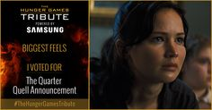 I voted for The Quarter Quell Announcement as Tribute for The Hunger Games Tribute Awards #TheHungerGamesTribute  tribute.thehungergames.movie