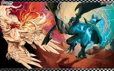 Pokemon Reshiram Vs Zekrom Wallpaper