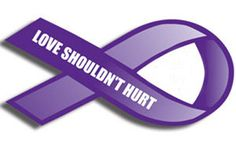 October ribbon for domestic violence | Hudson Valley Times - Black and blue and purple all over