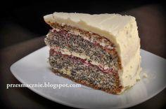 Przesmacznie: Tort makowy z kremem z bialej czekolady