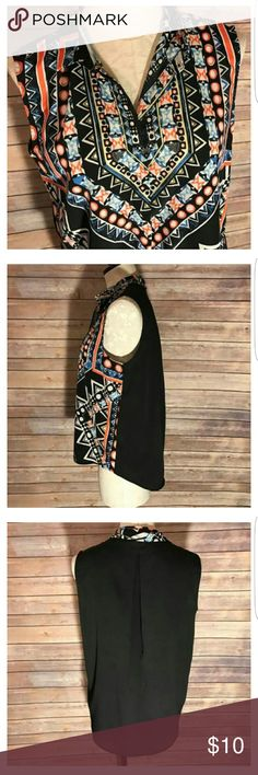 Mossimo Women's Sleeveless Blouse Aztec print tank.  Great condition!  Great for a new summer wardrobe! Mossimo Supply Co Tops Blouses
