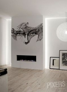Abstract Eyes - inspiration wall mural, interiors gallery• PIXERSIZE.com