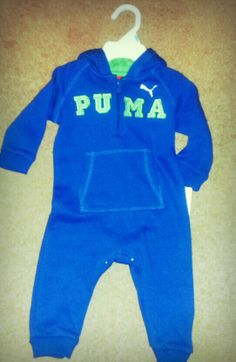Another Puma outfit! A hooded sleeper! Cute and cozy for our little star!