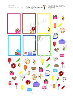 printable SWEET sticker mix #1 -Digital File Instant Download - planner girl, Mambi, happy planner, sweet di LaGhinetta su Etsy