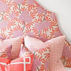 berry fleur chinoise pillow... or this! but very feminine, prob too over the top