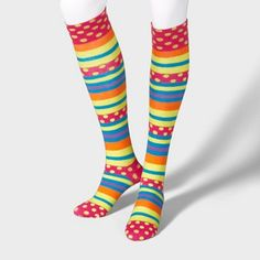 Polka dots and stripes.  These would make my mom cringe XD  So Cute Socks | Claire's
