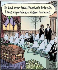 Facebook Humor | Expeccting a bigger turnout! Created by Bizarro Comics via Matt Clark on Funny Technology - Community - Google+
