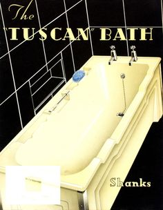 """1930s suburban houses: The """"Tuscan"""" bath Shanks and Co. Ltd Publication  manufactured by Shanks and Co. - Barrhead, 1937 - See more at: http://www.moda.mdx.ac.uk/results?adv_text=1937&x=0&y=0&session=MfOogBAWEAa&mi_search_type=adv&per_page=25&mi_adv_search=yes#sthash.9cvQ7l0R.dpuf"""