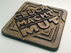 Coasters With Wishes in German