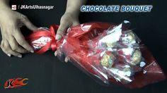 DIY Valentine's Gift Idea   Ferrero Rocher Chocolate Bouquet   How to ma...