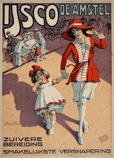 Vintage Dutch ad.- Ice cream Amstel - ♥ Amstel ijsco