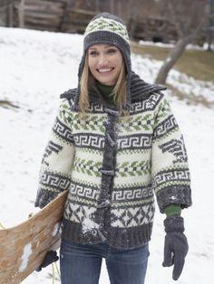 Navajo Cardigan and Hat | Yarn | Free Knitting Patterns | Crochet Patterns | Yarnspirations