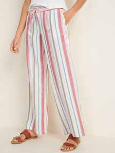 Best Summer Pants Ideas For Women Will Be Trend This Year - The summer season demands light, airy, breathable dresses in fabrics like cotton and in soft, muted colors that reflect the sunlight. There are multip. Tall Women, Old Navy Women, Comfy Pants, Women's Pants, Trousers, Summer Pants, Shop Old Navy, Twill Pants, Pull On Pants