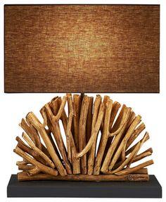 Eucalyptus Branch lamp - asian - Table Lamps - Natural design house $169