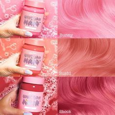 Lime Crime - Unicorn Hair Tints (Except i dont like Lime Crime) Dye My Hair, Dyed Hair Pink, Hair Dye Colors, Cool Hair Color, Summer Hairstyles, Pretty Hairstyles, Coloured Hair, Rainbow Hair, Crazy Hair
