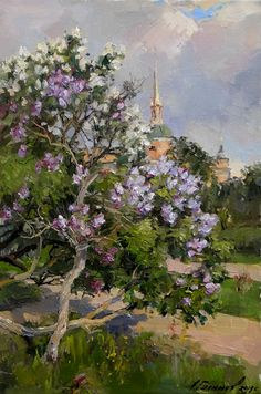 Cool Art, Fun Art, Make Me Smile, Concept, Lilacs, Artist, Painting, Bedroom, Pictures