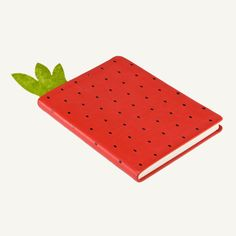 Red strawberry notebook