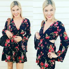 Forever 21 romper. Photographed: Summer Silvery   #forever21 #style #romper #summer #outfit #cute #flowers #floral #love #cute #tattoo #blonde #clothes #clothing #apparel #brand #blogger