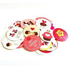 Valentine's Day Sticker Labels - Set of 50  #Valentine #Valentinesday #cute #adorable #stickers #kids #woodland #bee #animal #flower #bird #owl #forest #love #holiday #adorebynat #handmade #handmadeatamazon #freeshipping #children #celebrate #labels #envelopeseal #favors #red #pink #heart #design #decorate
