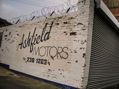 Ashfield Motors ghost sign, Birmingham, UK