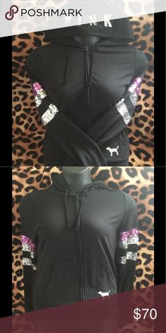 Victoria's Secret Pink bling hoodie 💫 Brand new Victoria's Secret Pink bling hoodie 💫 PINK Victoria's Secret Tops Sweatshirts & Hoodies