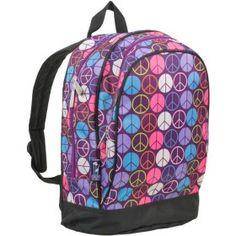 Wildkin Peace Signs Purple Sidekick Backpack $28.99