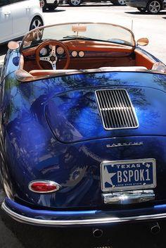 Vintage blue Porsche!