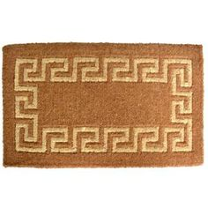 Greek Key Coir Door Mat (24 x 39) - Overstock