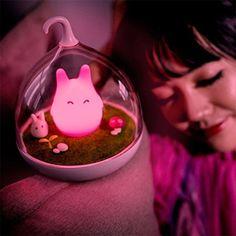 LOSORN ZPY Niedlich Elfen LED Nachlicht Lampe für Schlafzimmer Intelligent Touch Sensor Nachladbare Tragbar Geschenken Kinderzimmer Deko: Amazon.de: Beleuchtung