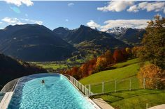 Www.ferienhotel.at #wellness hotel #austria #schweiz #skypool #vorarlberg #montain #berg #skypool Hotel Austria, Berg, Wellness, Mountains, Nature, Travel, Switzerland, Naturaleza, Viajes