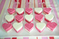 Cute iced coconut hearts by TheLemonyCupcake. Might try this soon!