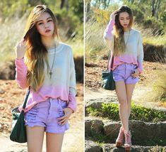 Pastel Dip Dye (+Giveaways) (by Chloe T) http://lookbook.nu/look/3748699-Pastel-Dip-Dye-Giveaways