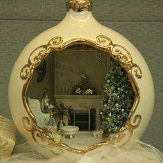 Christmas scene in a Christmas ball