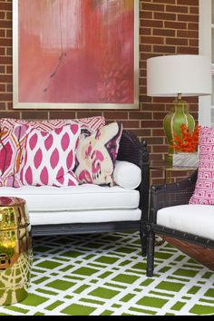Back porch veranda designed by Parker Kennedy Living