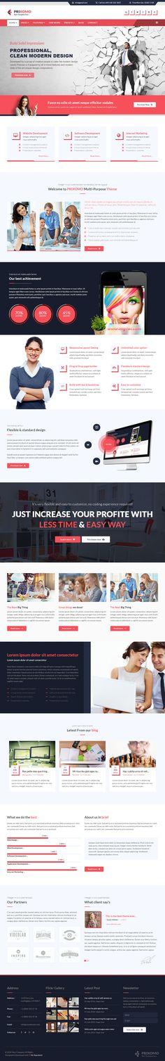 Parallax Website Template Nayax Is Premium Responsive Retina Parallax #joomla Template