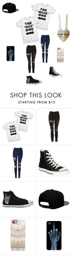 """""""Untitled #74"""" by darksoul7 on Polyvore featuring Topshop, Converse, '47 Brand and Casetify"""