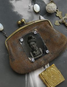 the tin type is wonderful on the front of the coin purse