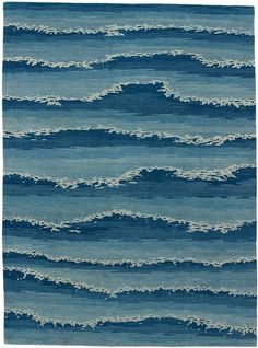 Cape Cod Ocean rug from Warp Weft Motifs Textiles, Textile Patterns, Textile Design, Textile Art, Color Patterns, Print Patterns, Ocean Rug, Ocean Waves, Le Grand Bleu