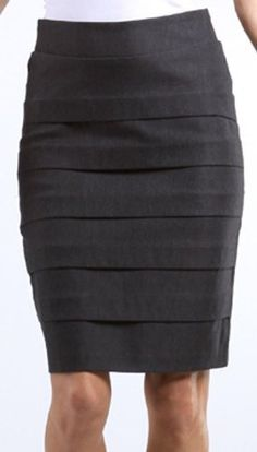 IMI-5558 Knee Length Tiered Sleek Stretch Skirt - Charcoal / M Sakka's, http://www.amazon.co.uk/dp/B003A8NHOK/ref=cm_sw_r_pi_dp_sgb5qb1S7R5E3