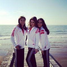 Kyla Ross, Mckayla Moroney, and Aly Raisman in Italy