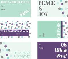 free printable holiday gift tags via Cake Events Free Printable Gift Tags, Free Printables, Printable Quotes, Holiday Gift Tags, Christmas Tag, Card Tags, Christmas Printables, Journal Cards, Edible Favors