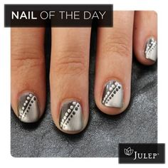 Cute and easy way to accent your nails... Thanks, Julep!