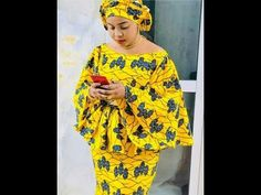 Latest Fashion: Stylish Nigerian Bazin And DRC Dresses vol In this video,you will exciting and stunningly thrilling print. African Print Dress Designs, African Print Dresses, African Design, African Dress, African Fashion Ankara, Latest African Fashion Dresses, African Print Fashion, African Attire, African Wear