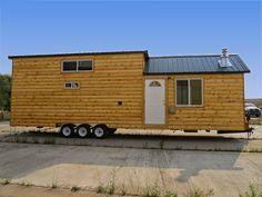 This cabin is huge for an 8' wide, and is king when it comes to size.Rich's Cabins Full Angus triple axle 40 ft.